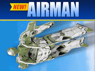 Airman RC Flying Superhero Airplane Toy