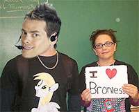 Vince Offer, now star of Bronie Fan Fiction