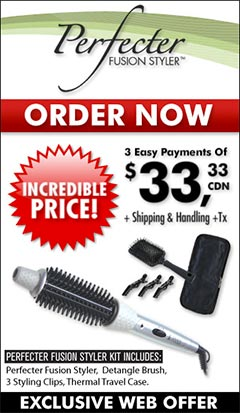Perfecter Fusion Styler Canada - As Seen on TV - Fusion Hair Styler