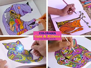 Colorama Cats And Kittens Coloring Book