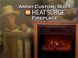 Heat Surge Roll-n-Glow EV.2 Electric Fireplace with Amish Mantle