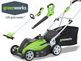 Greenworks Lawn Mower and Yard Tools