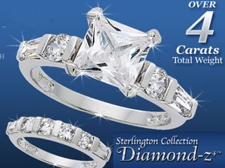 Diamond-z4 CZ Ring by Sterlington Collection