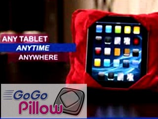 GoGo Pillow Holds iPad or Tablet