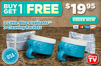 Little Blue Elephant Automatic Toilet Bowl Cleaner