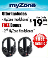 MyZone Wireless Headphones BOGO Offer
