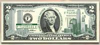 10th Anniversary September 11th WTC $2 Bill