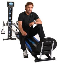 Chuck Norris with the Total Gym