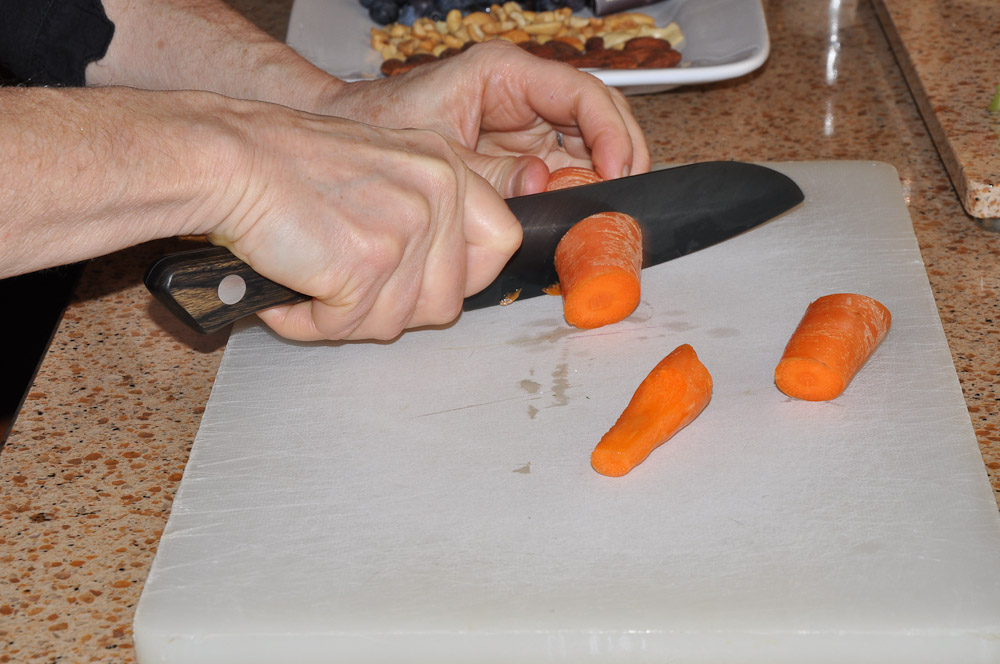 Chopping carrots - Slap Chop Luncheon