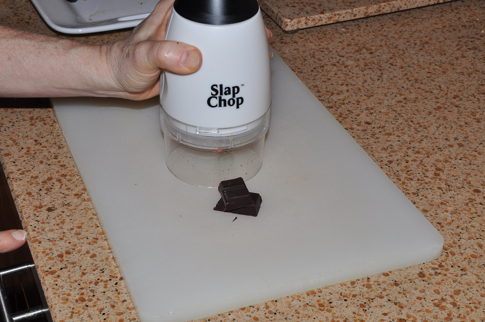 Chopped dark chocolate - Slap Chop Luncheon