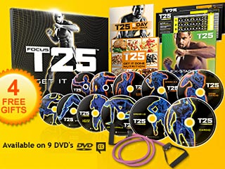 Focus T25 Workout DVDs From Beachbody and Shaun T