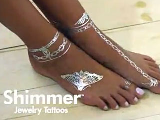 Shimmer Temporary Jewelry Tattoos