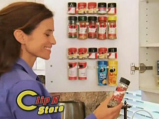 Clip N Store Spice Rack
