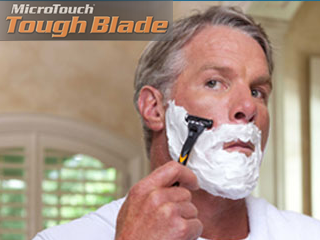 microtouch tough blade razor with brett favre. Black Bedroom Furniture Sets. Home Design Ideas