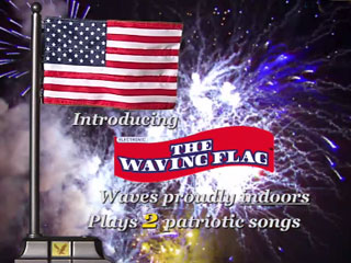 The Waving Flag – U.S. Flag with Electronic Waving Action