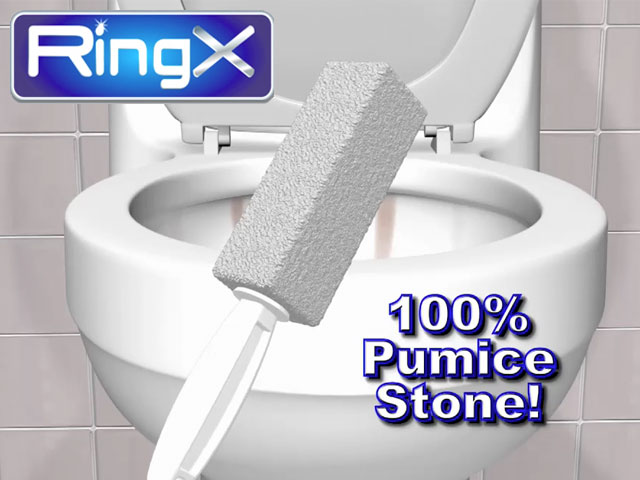 Ring X Toilet Bowl Cleaner 100 Natural Pumice Stone