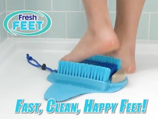 Fresh Feet — Foot Scrubber for Shower and Bath