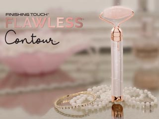 Finishing Touch Flawless Contour Rose Quartz Vibrating Facial Massager