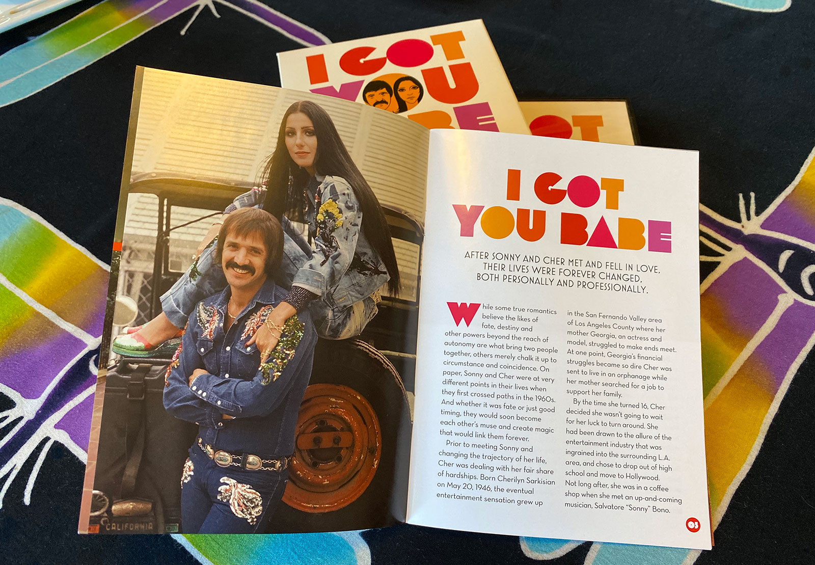 collector's booklet from Sonny & Cher DVD Collection