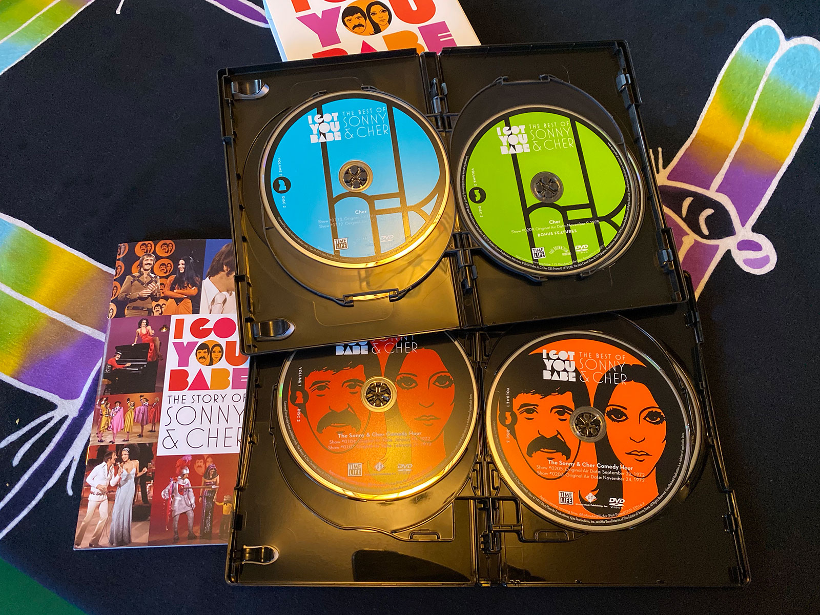 Photo of the DVDs included in The Best of Sonny & Cher DVD Collection