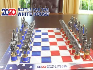 Battle for the White House 2020 Chess Set - Still image from the TV commerical