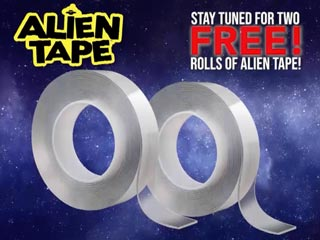 Screen grab from Alien Tape TV Commercial